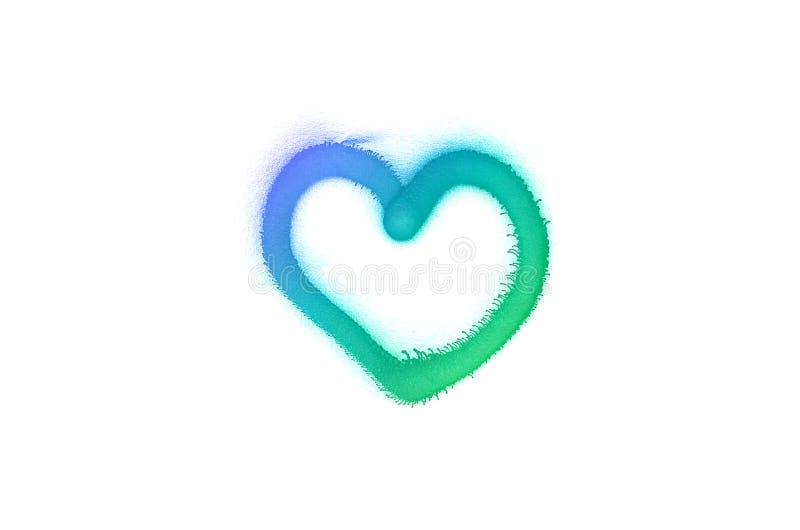 Σημάδι καρδιών γκράφιτι που ψεκάζεται απομονωμένο στο λευκό υπόβαθρο στοκ φωτογραφία