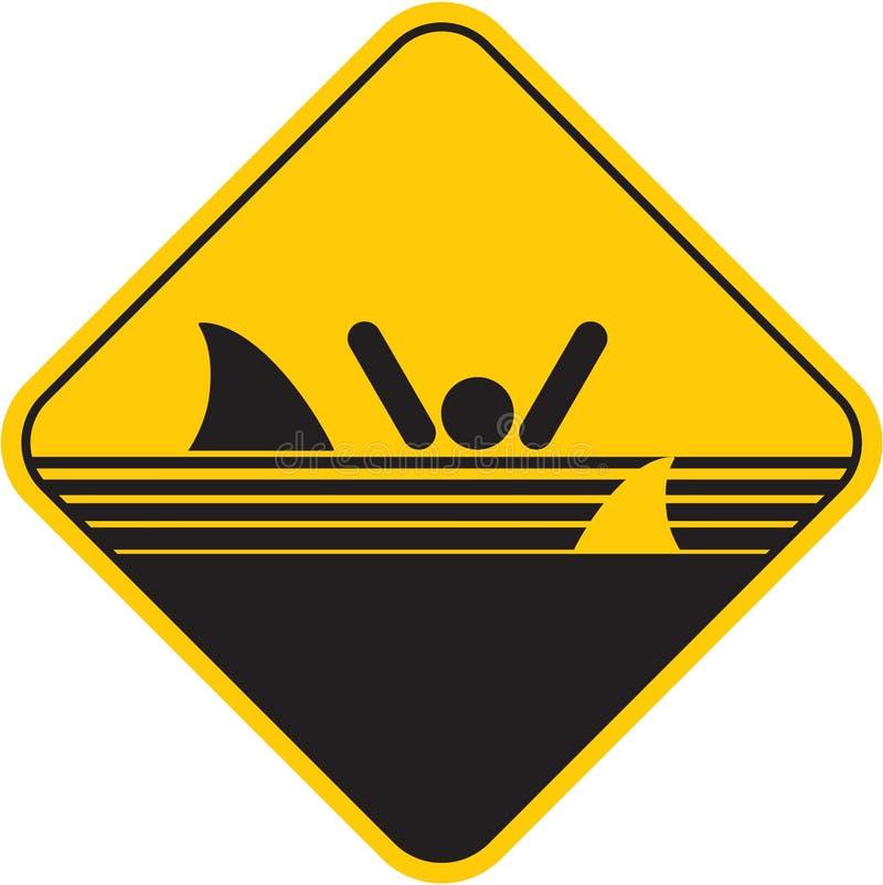 Σημάδι καρχαριών προσοχής απεικόνιση αποθεμάτων