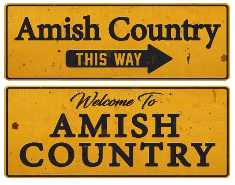 Σημάδι κασσίτερου της Πενσυλβανίας χώρας Amish αγροτικό στοκ φωτογραφία με δικαίωμα ελεύθερης χρήσης
