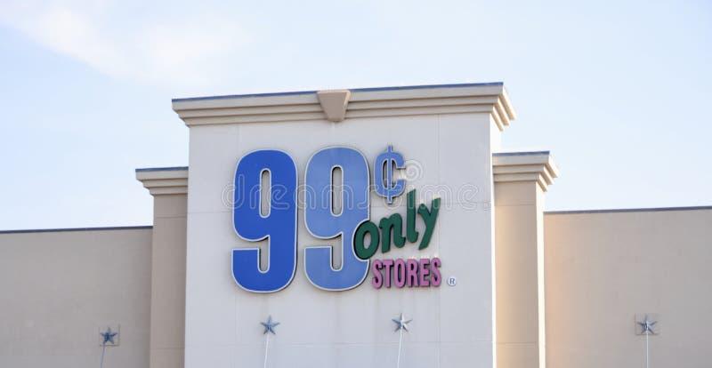 Σημάδι 99 καταστημάτων σεντ μόνο, Fort Worth, Τέξας στοκ φωτογραφία με δικαίωμα ελεύθερης χρήσης