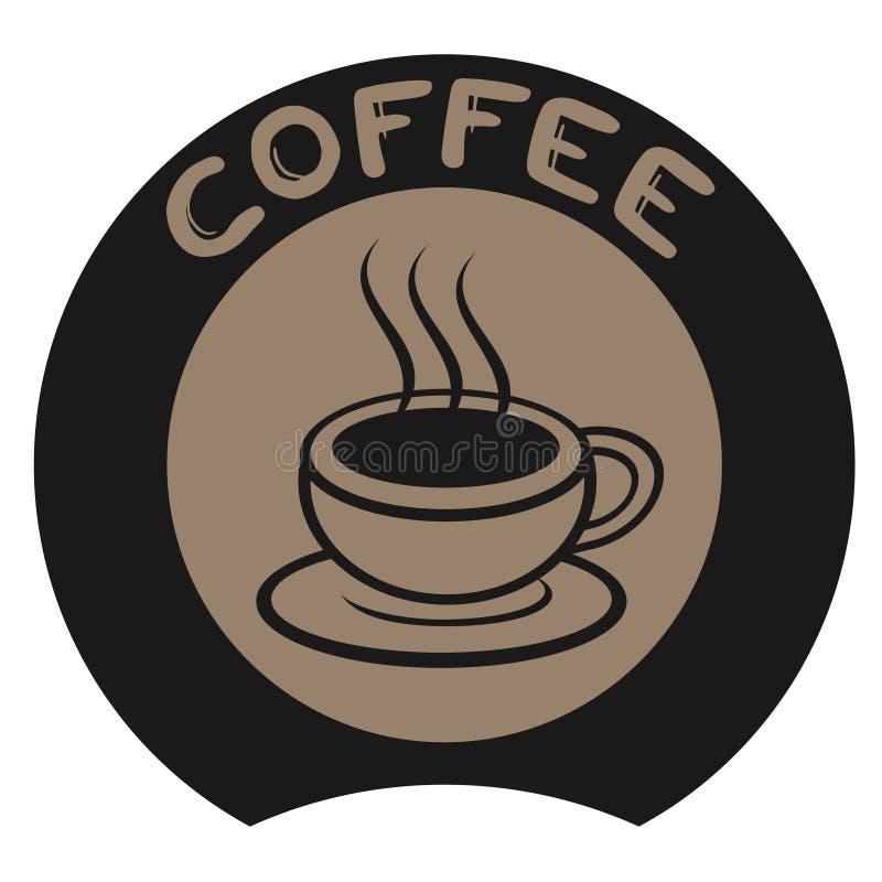 Σημάδι καφέ απεικόνιση αποθεμάτων