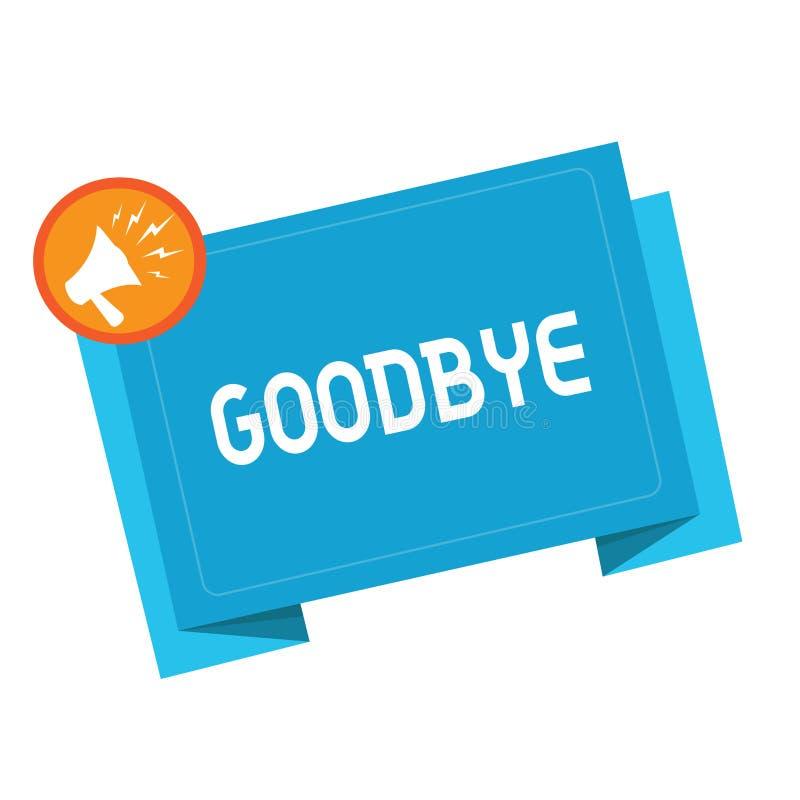 Σημάδι κειμένων που παρουσιάζει αντίο Ο εννοιολογικός χαιρετισμός φωτογραφιών για την αναχώρηση αποχαιρετιστήριος σας βλέπει σύντ απεικόνιση αποθεμάτων