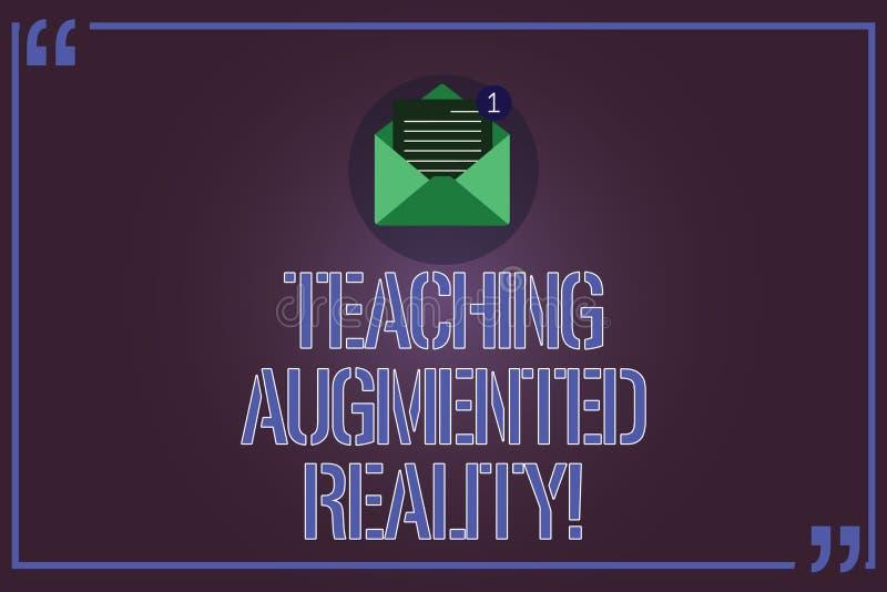 Σημάδι κειμένων που παρουσιάζει αυξημένη διδασκαλία πραγματικότητα Εννοιολογική φωτογραφία η χρήση του AR apps άμεσα στην τάξη αν ελεύθερη απεικόνιση δικαιώματος