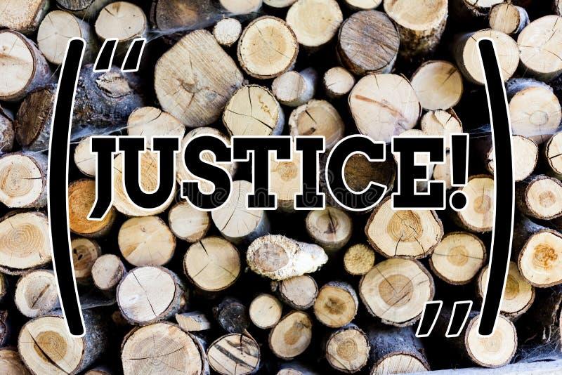 Σημάδι κειμένων που παρουσιάζει δικαιοσύνη E στοκ εικόνες με δικαίωμα ελεύθερης χρήσης