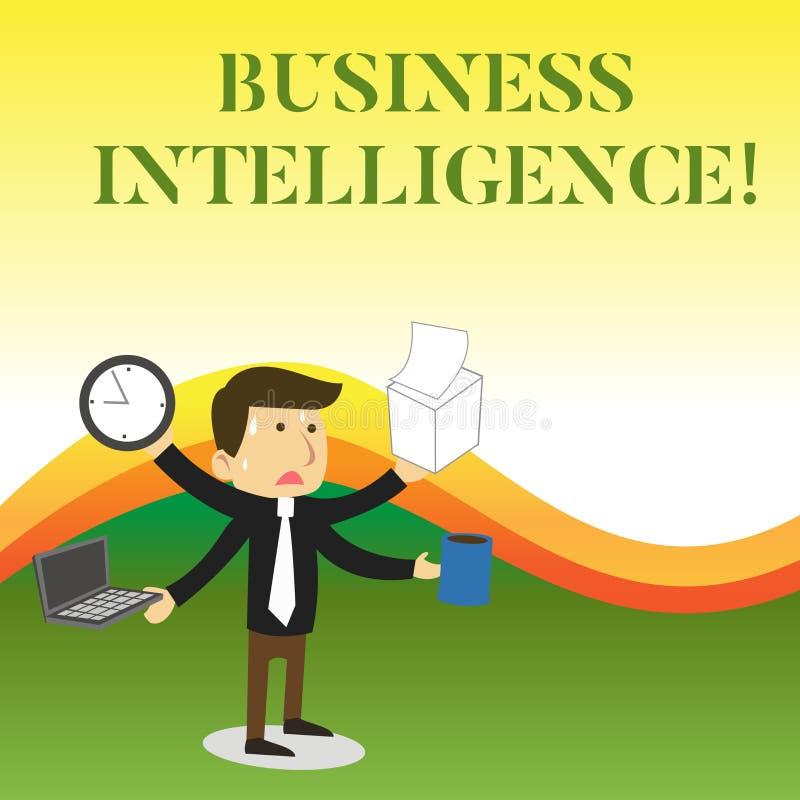 Σημάδι κειμένων που παρουσιάζει επιχειρηματική κατασκοπεία Εννοιολογική καλύτερη πρακτική φωτογραφιών των πληροφοριών να βελτιστο διανυσματική απεικόνιση