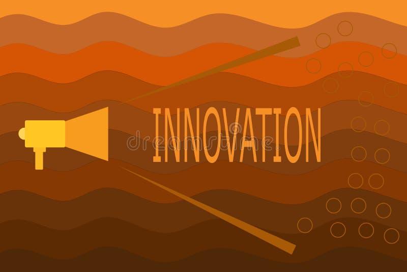 Σημάδι κειμένων που παρουσιάζει καινοτομία Εννοιολογικός διαφορετικός δημιουργικός προϊόντων ιδέας μεθόδου φωτογραφιών νέος γνωστ απεικόνιση αποθεμάτων