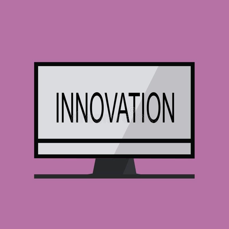 Σημάδι κειμένων που παρουσιάζει καινοτομία Εννοιολογικός διαφορετικός δημιουργικός προϊόντων ιδέας μεθόδου φωτογραφιών νέος γνωστ ελεύθερη απεικόνιση δικαιώματος