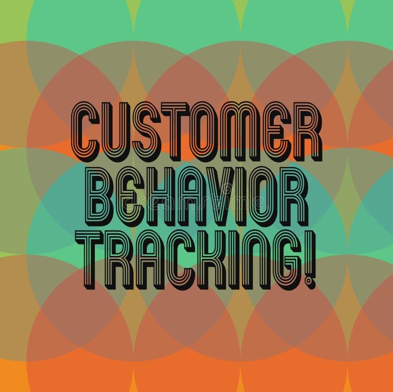 Σημάδι κειμένων που παρουσιάζει καταδίωξη συμπεριφοράς πελατών Τα εννοιολογικά μέτρα φωτογραφιών που ένας χρήστης λαμβάνει αφορού στοκ φωτογραφία με δικαίωμα ελεύθερης χρήσης