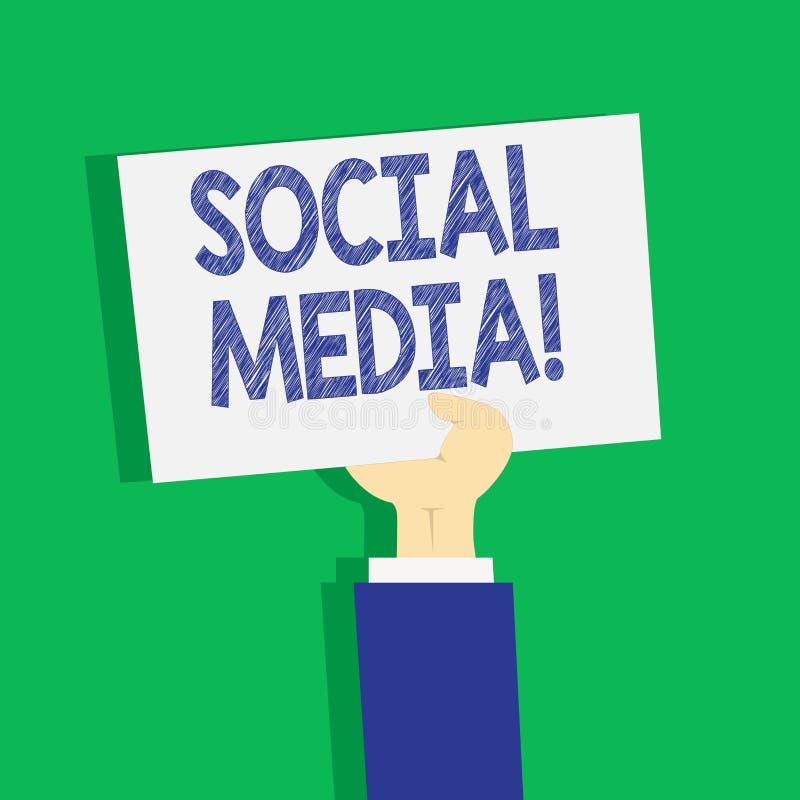 Σημάδι κειμένων που παρουσιάζει κοινωνικό MEDIA Οι εννοιολογικοί ιστοχώροι και οι εφαρμογές φωτογραφιών επιτρέπουν στους χρήστες  απεικόνιση αποθεμάτων