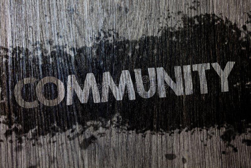 Σημάδι κειμένων που παρουσιάζει Κοινότητα Εννοιολογικό backgrou ομάδας ενότητας συμμαχίας κρατικών συνεταιρισμών ένωσης γειτονιάς στοκ φωτογραφία