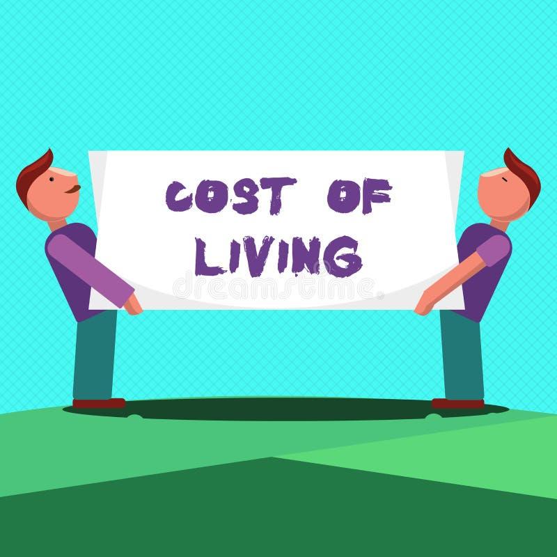 Σημάδι κειμένων που παρουσιάζει κόστος ζωής Εννοιολογική φωτογραφία το επίπεδο τιμών σχετικά με μια σειρά των καθημερινών στοιχεί διανυσματική απεικόνιση