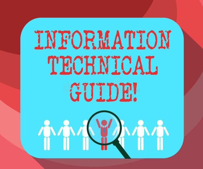 Σημάδι κειμένων που παρουσιάζει στις πληροφορίες τεχνικό οδηγό Εννοιολογικό έγγραφο φωτογραφιών που περιέχει τις οδηγίες της ενίσ στοκ φωτογραφία με δικαίωμα ελεύθερης χρήσης