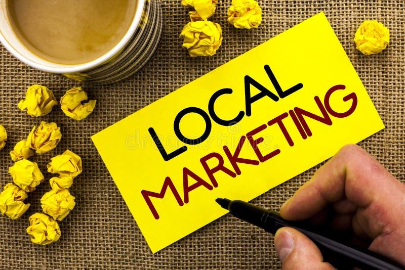 Σημάδι κειμένων που παρουσιάζει τοπικό μάρκετινγκ Εννοιολογικές εμπορικές τοπικά ανακοινώσεις διαφήμισης φωτογραφιών περιφερειακέ στοκ εικόνες με δικαίωμα ελεύθερης χρήσης