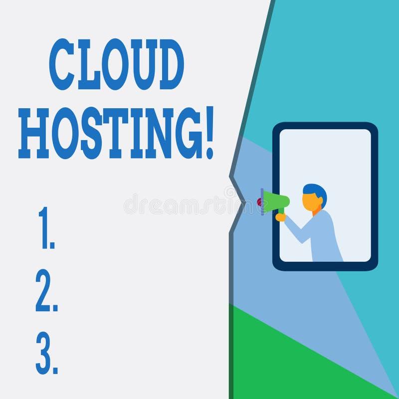 Σημάδι κειμένων που παρουσιάζει φιλοξενία σύννεφων Εννοιολογική φωτογραφία η εναλλακτική λύση της φιλοξενίας των ιστοχώρων στους  διανυσματική απεικόνιση