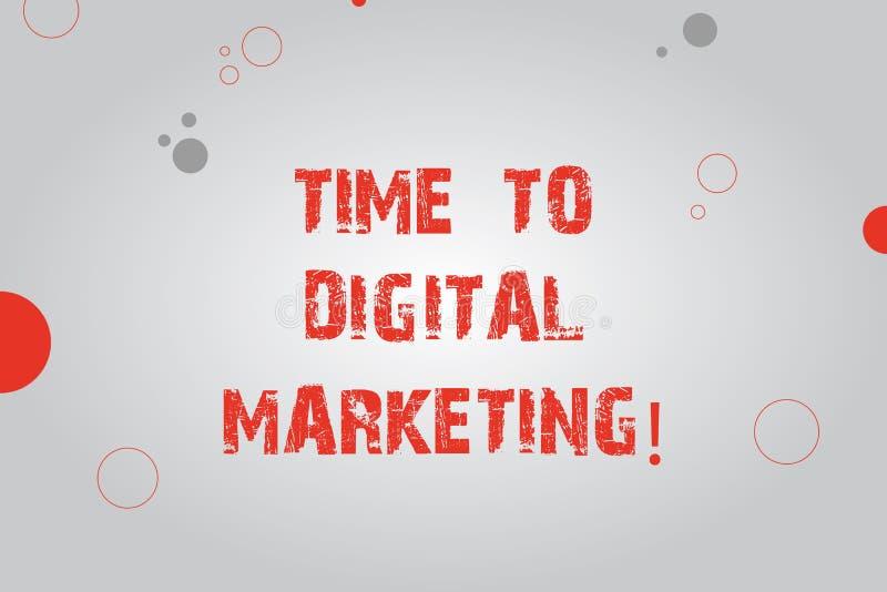Σημάδι κειμένων που παρουσιάζει χρόνο στο ψηφιακό μάρκετινγκ Εννοιολογικά σύγχρονα σε απευθείας σύνδεση κοινωνικά μέσα φωτογραφιώ ελεύθερη απεικόνιση δικαιώματος
