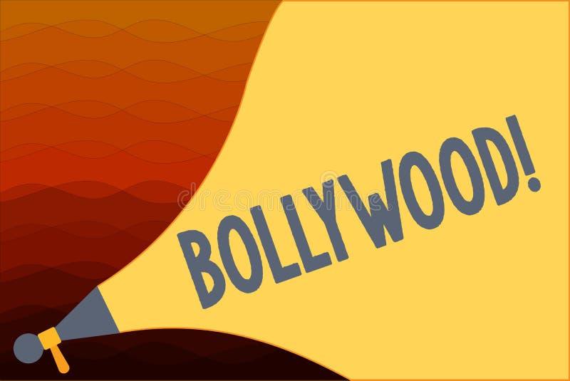 Σημάδι κειμένων που παρουσιάζει Bollywood Εννοιολογική κινηματογραφία Mumbai βιομηχανίας κινηματογράφων ταινιών φωτογραφιών ινδικ απεικόνιση αποθεμάτων