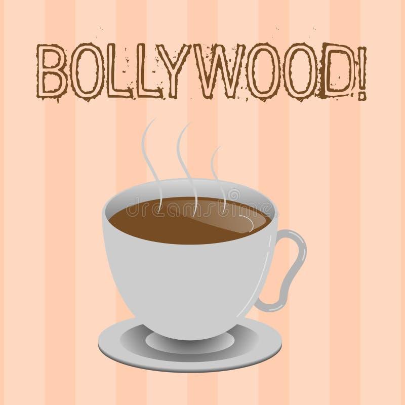 Σημάδι κειμένων που παρουσιάζει Bollywood Εννοιολογική κινηματογραφία Mumbai βιομηχανίας κινηματογράφων ταινιών φωτογραφιών ινδικ ελεύθερη απεικόνιση δικαιώματος