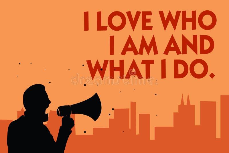 Σημάδι κειμένων που παρουσιάζει cWho αγάπης Ι είμαι και τι κάνω Εννοιολογικός υψηλός μόνος-μίσχος φωτογραφιών που είναι άνετος με ελεύθερη απεικόνιση δικαιώματος