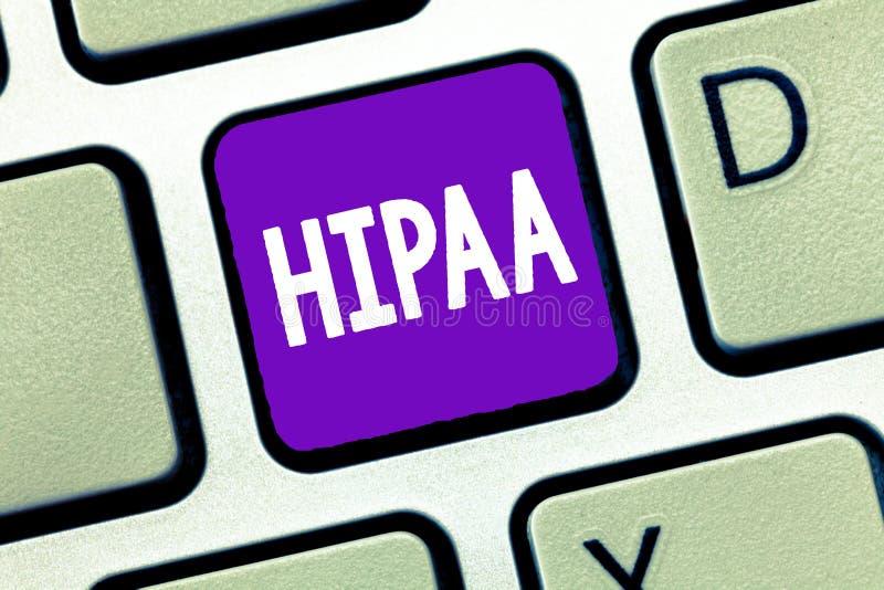 Σημάδι κειμένων που παρουσιάζει Hipaa Εννοιολογικές στάσεις αρκτικολέξων φωτογραφιών για την υπευθυνότητα φορητότητας ασφάλειας υ στοκ εικόνες με δικαίωμα ελεύθερης χρήσης