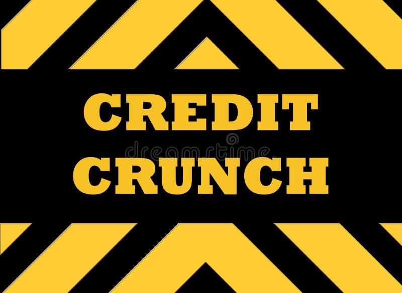 σημάδι κινδύνου πιστωτική&si απεικόνιση αποθεμάτων