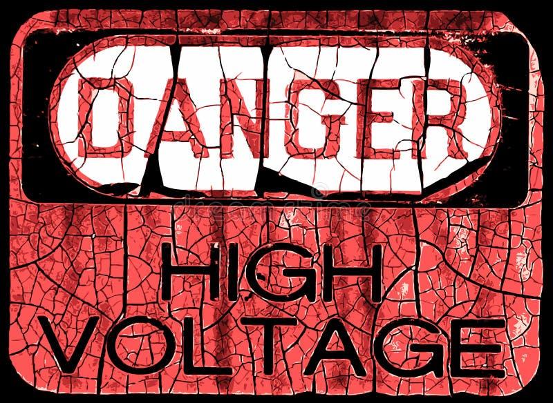 σημάδι κινδύνου grunge στοκ φωτογραφία