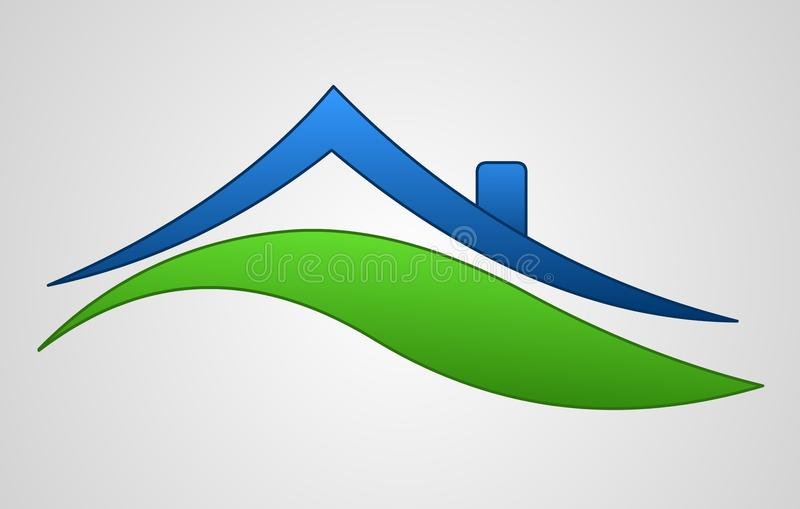σημάδι λογότυπων σπιτιών διανυσματική απεικόνιση