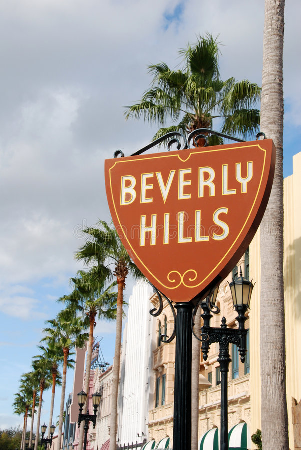 σημάδι λόφων της Beverly στοκ φωτογραφίες