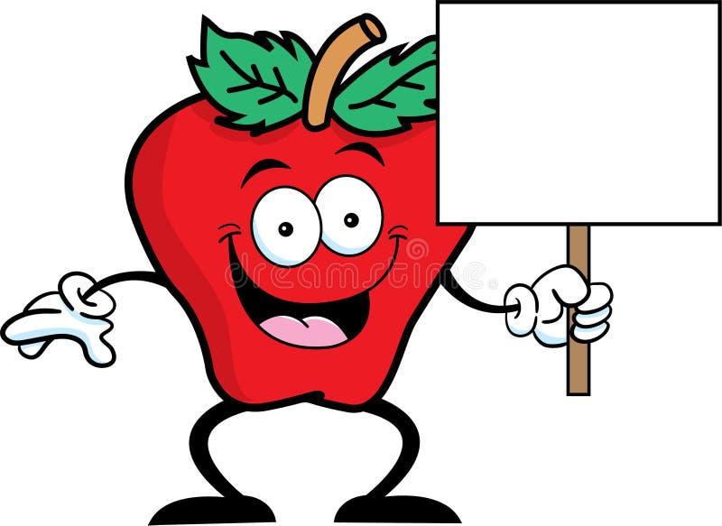 Σημάδι μήλων ελεύθερη απεικόνιση δικαιώματος