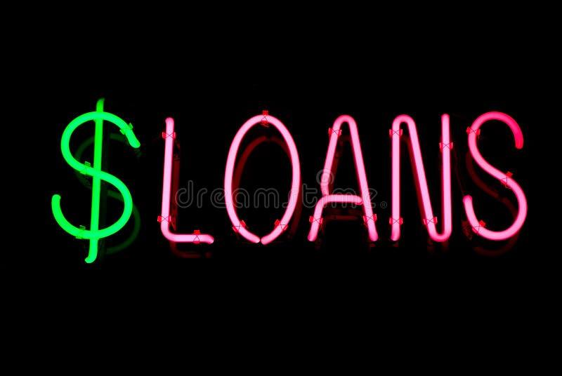σημάδι νέου δανείων στοκ φωτογραφία με δικαίωμα ελεύθερης χρήσης