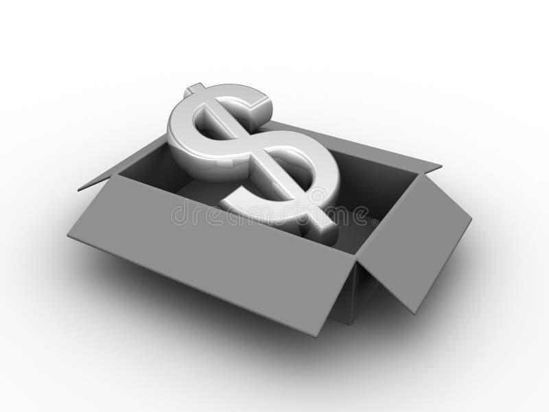 σημάδι νομίσματος κιβωτίω& ελεύθερη απεικόνιση δικαιώματος