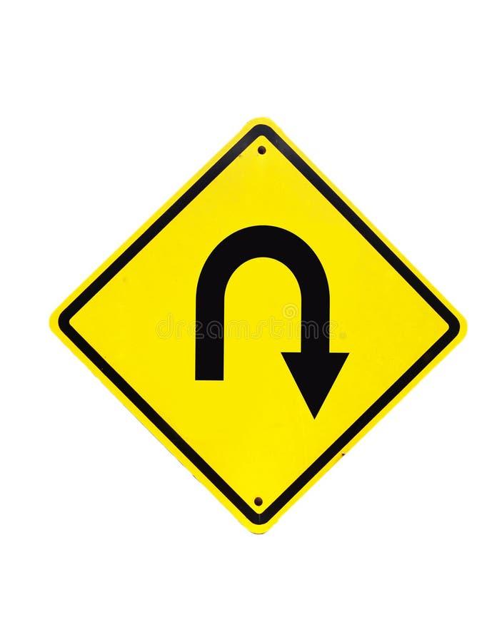 Σημάδι οδικής κυκλοφορίας στροφής του U στοκ εικόνες με δικαίωμα ελεύθερης χρήσης