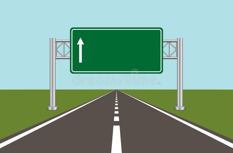 Σημάδι 2 οδικών εθνικών οδών ελεύθερη απεικόνιση δικαιώματος