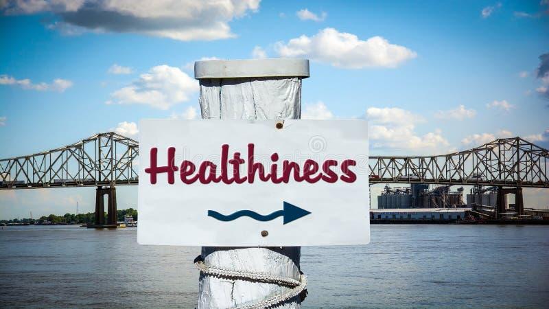 Σημάδι οδών σε Healthiness στοκ φωτογραφία