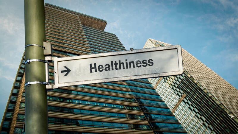 Σημάδι οδών σε Healthiness στοκ φωτογραφίες με δικαίωμα ελεύθερης χρήσης