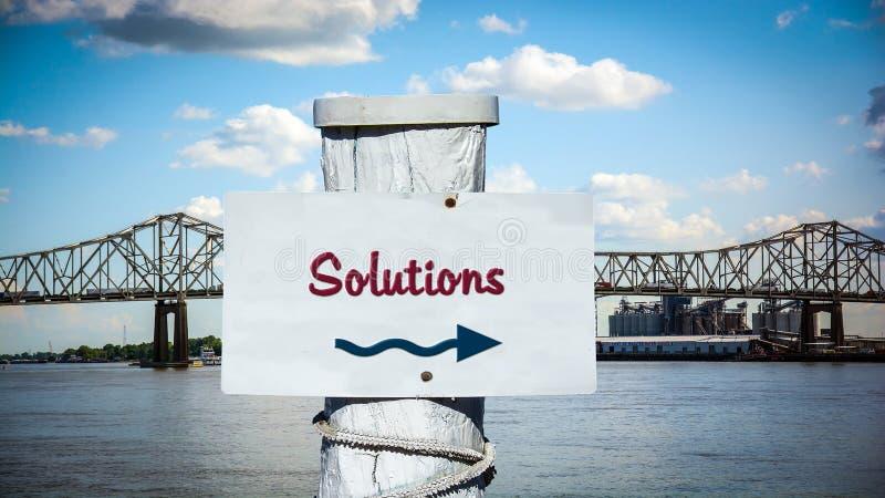 Σημάδι οδών στις λύσεις στοκ φωτογραφία με δικαίωμα ελεύθερης χρήσης