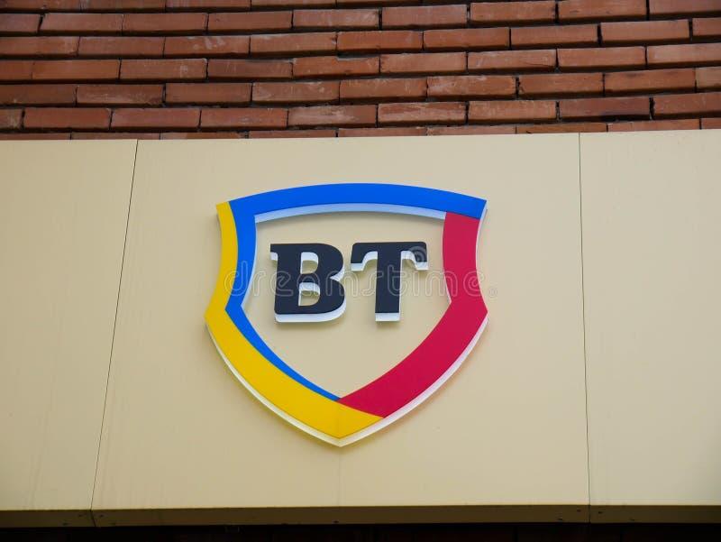 Σημάδι οδών της Banca Transilvania στοκ εικόνα με δικαίωμα ελεύθερης χρήσης