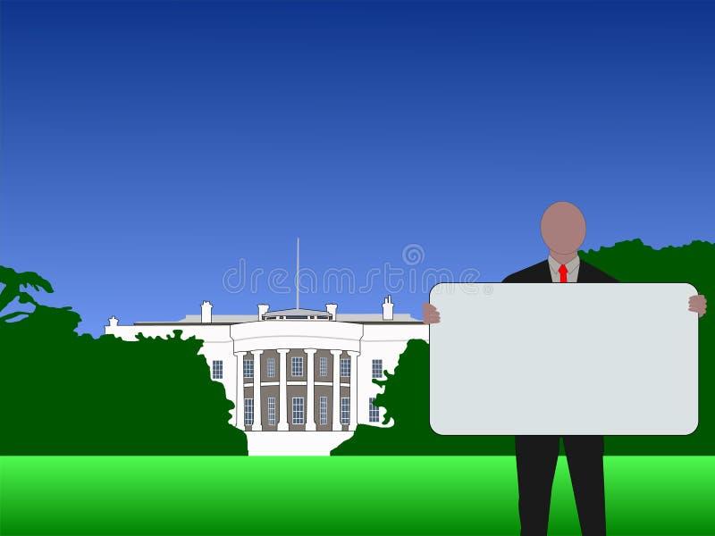 σημάδι Ουάσιγκτον συνεχών ατόμων ελεύθερη απεικόνιση δικαιώματος