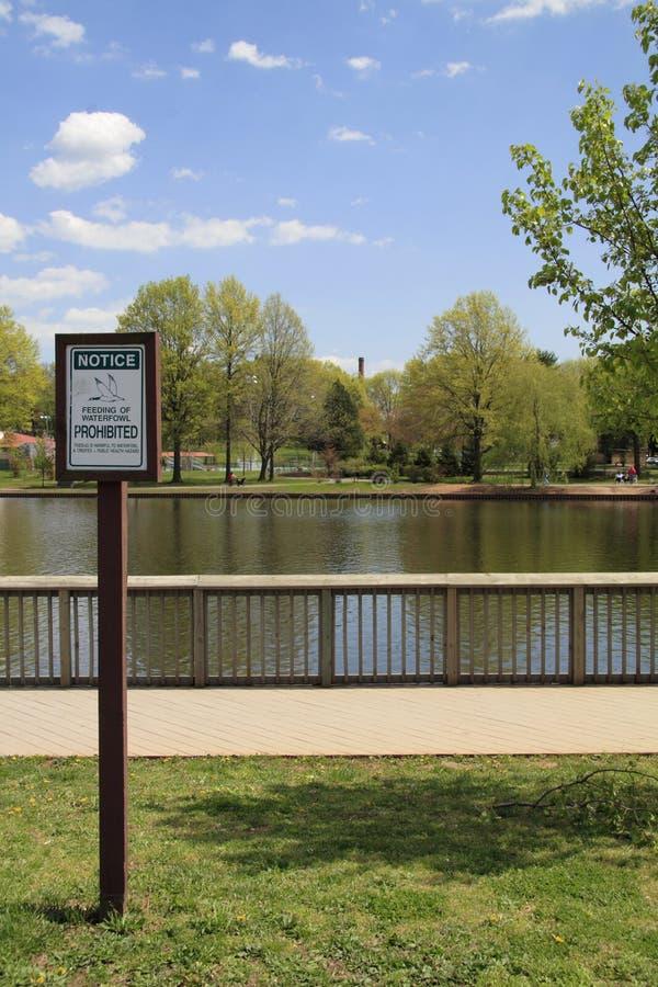 σημάδι πάρκων στοκ εικόνες