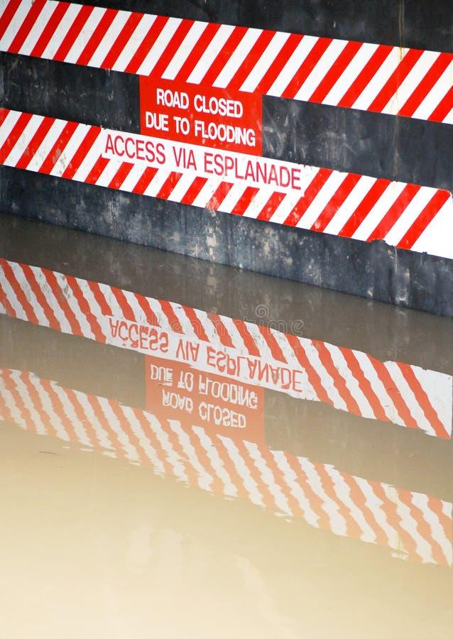 σημάδι πλημμυρών στοκ εικόνες με δικαίωμα ελεύθερης χρήσης