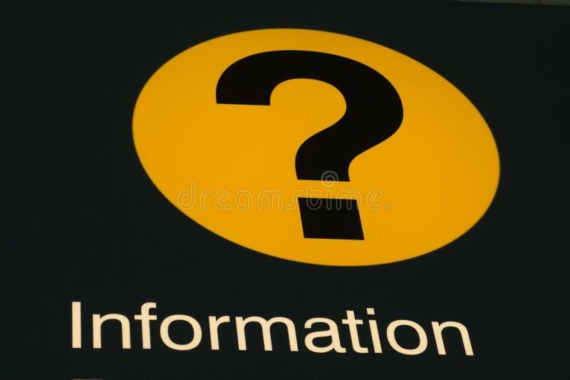 σημάδι πληροφοριών αερολιμένων στοκ εικόνες