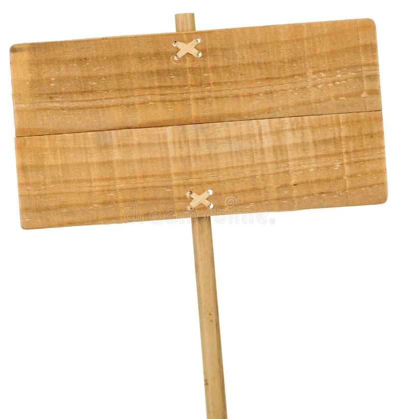 Σημάδι που απομονώνεται ξύλινο πέρα από το λευκό στοκ φωτογραφία με δικαίωμα ελεύθερης χρήσης