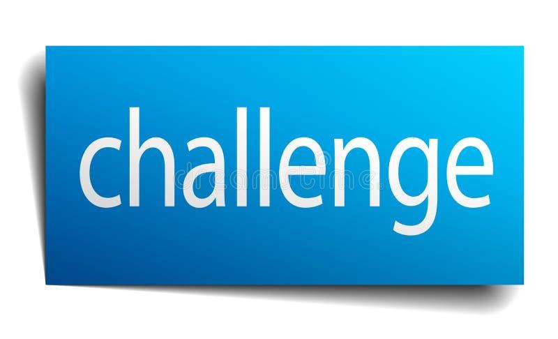 σημάδι πρόκλησης απεικόνιση αποθεμάτων