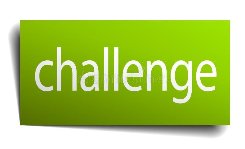 σημάδι πρόκλησης διανυσματική απεικόνιση