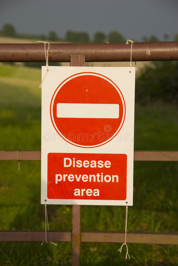 σημάδι πρόληψης ασθενειών περιοχής στοκ φωτογραφία
