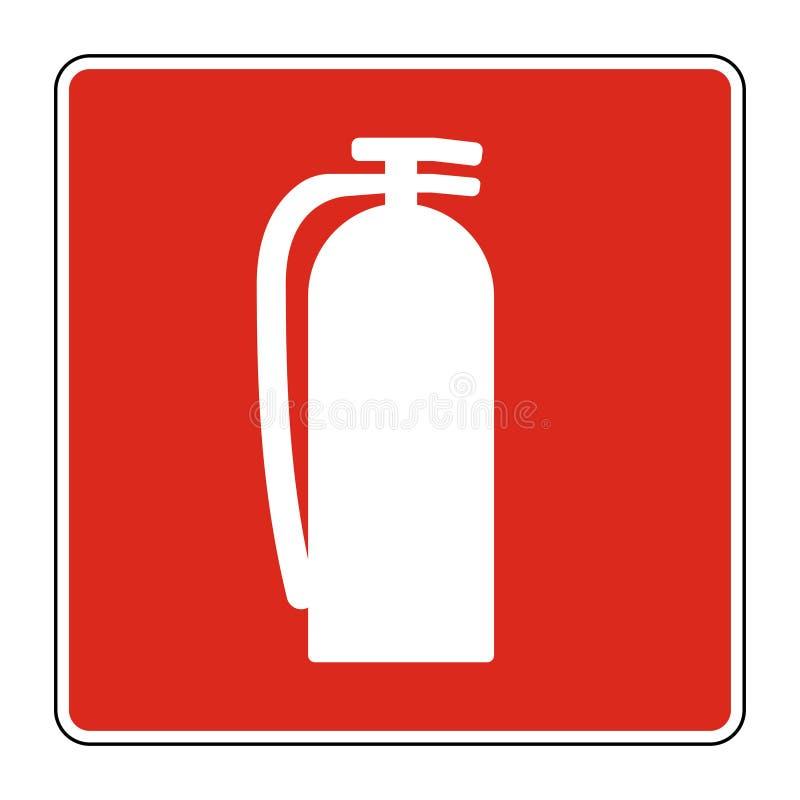 Σημάδι πυροσβεστήρων συμβόλων στο άσπρο υπόβαθρο, διανυσματικό llustration απεικόνιση αποθεμάτων
