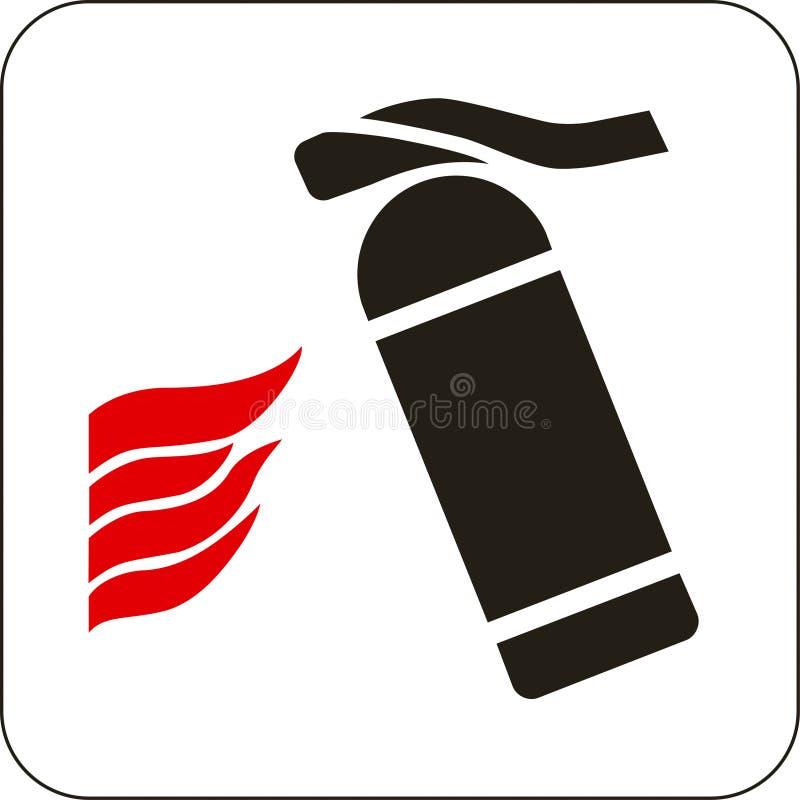 Σημάδι πυροσβεστήρων απεικόνιση αποθεμάτων