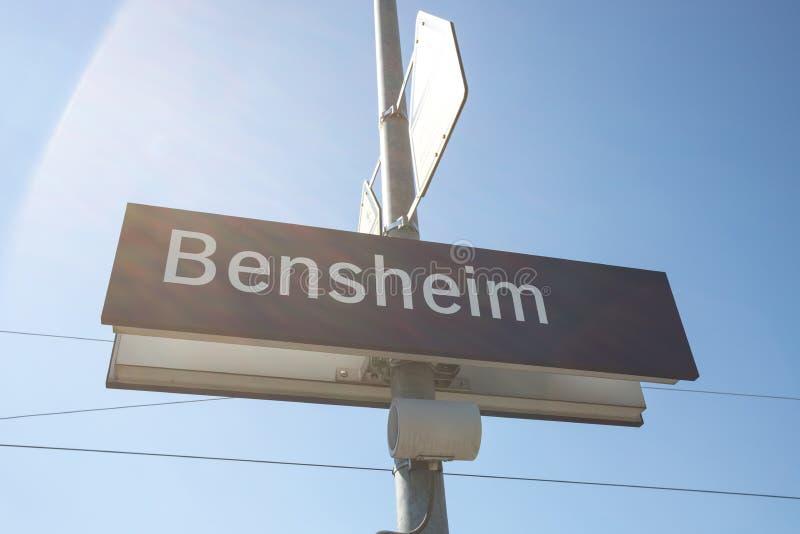 Σημάδι πόλεων της Γερμανίας Bensheim hesse στοκ φωτογραφίες με δικαίωμα ελεύθερης χρήσης