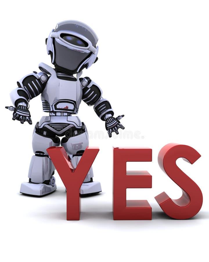 σημάδι ρομπότ ναι απεικόνιση αποθεμάτων