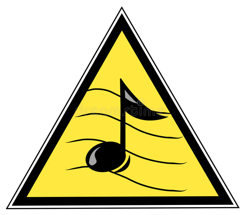 σημάδι σημειώσεων μουσικής απεικόνιση αποθεμάτων