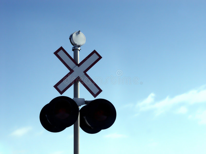 σημάδι σιδηροδρόμων στοκ εικόνες